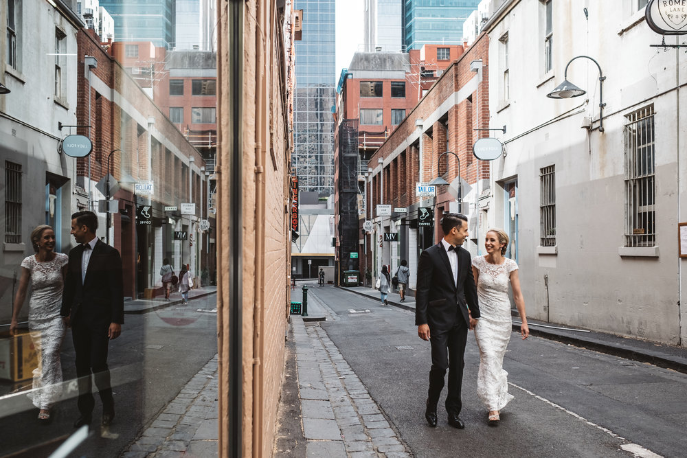melbourne engagement and wedding photography near the registry office