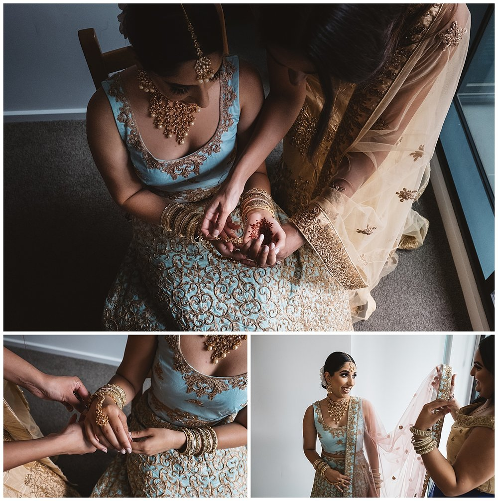 Bride getting ready in melbourne cbd and wedding traditions in North Melbourne
