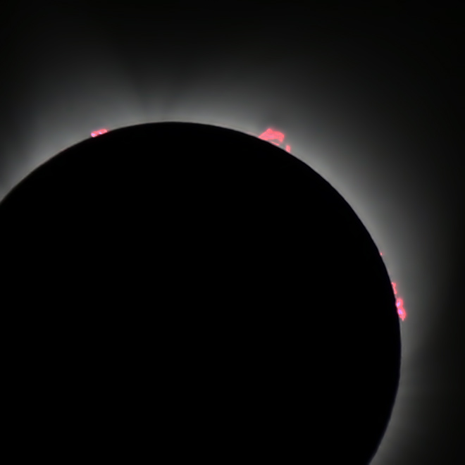 2017 total solar eclipse prominences