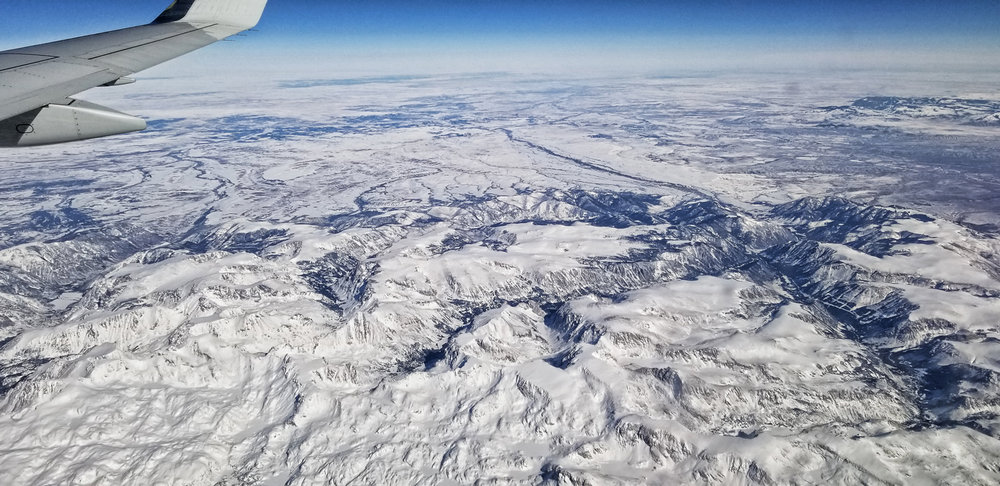 The deeply glaciated terrain of the Beartooth Plateau north of Yellowstone National Park.