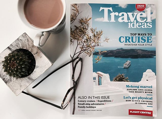 Gwens latest article in @flightcentreau Travel Ideas magazine talks all things ACTIVE CRUISING 🛳 - Available at your local @flightcentreau, grab a copy now for some travel inspo
