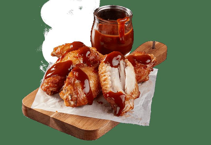 ROAST CHICKEN WINGS WITH BLAZIN' BBQ SAUCE -