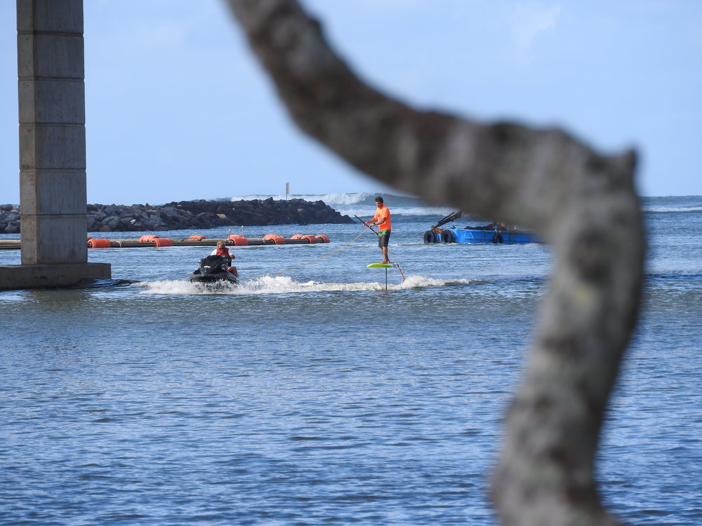 Learning behind a Jetski or Boat to start first