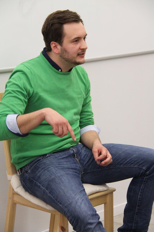 David, Gründer von  Art Night