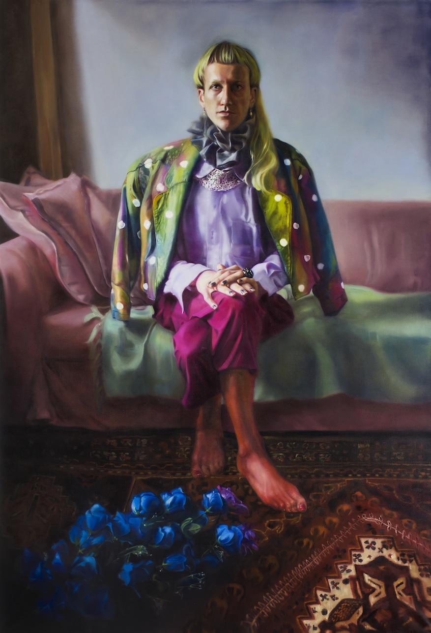 'Blue Roses,' oil on linen, 190 x 135 cm, 2017.  copy.jpg