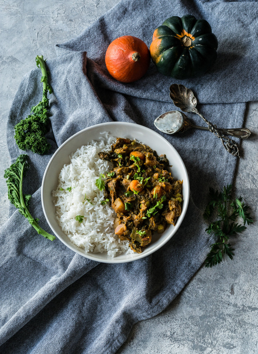 Vegan Indian Spiced Mix Vegetable Curry aka 'Annakoot ki Subzi' -