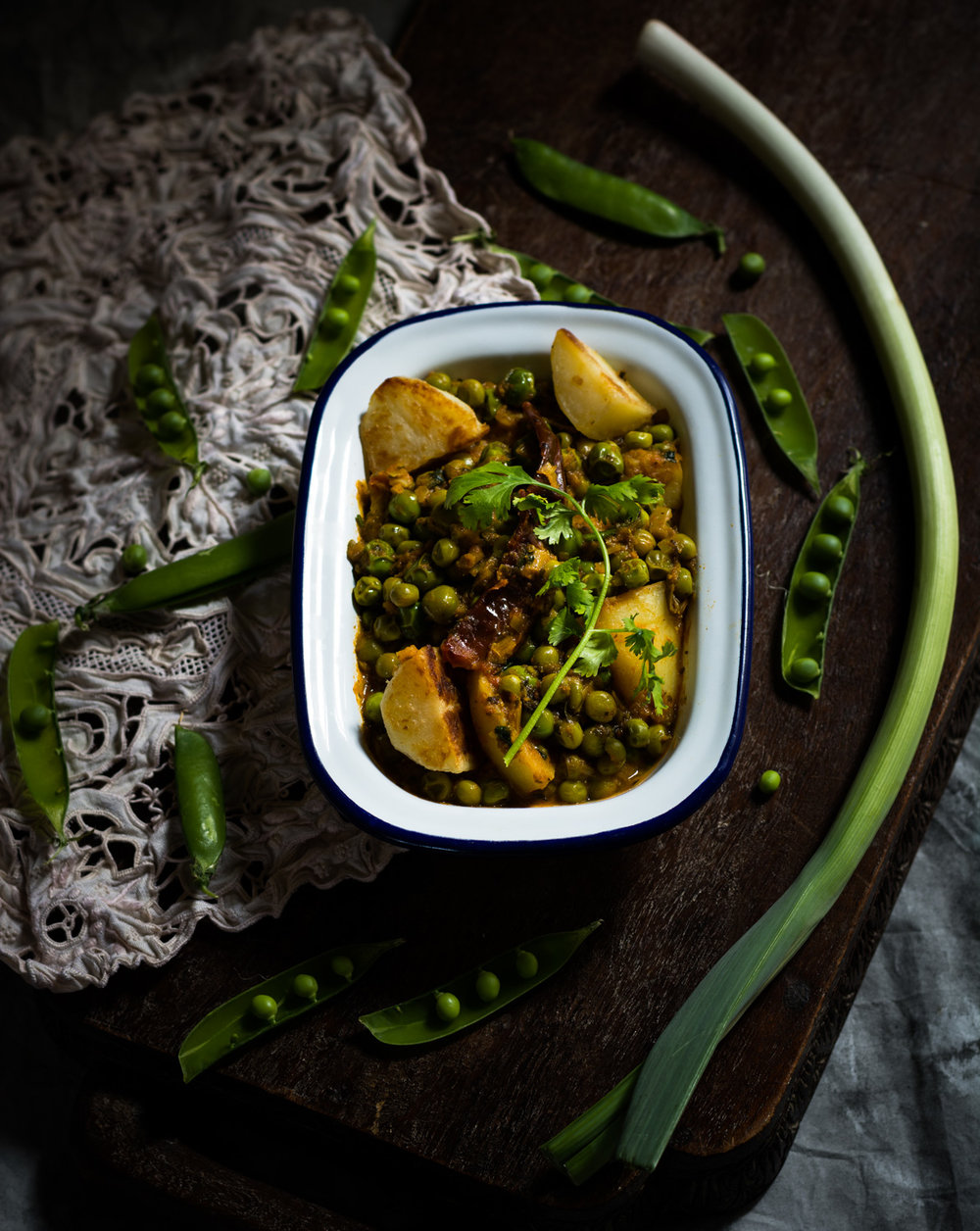 Mangal Kangtak - A North East Indian Green Peas Curry -