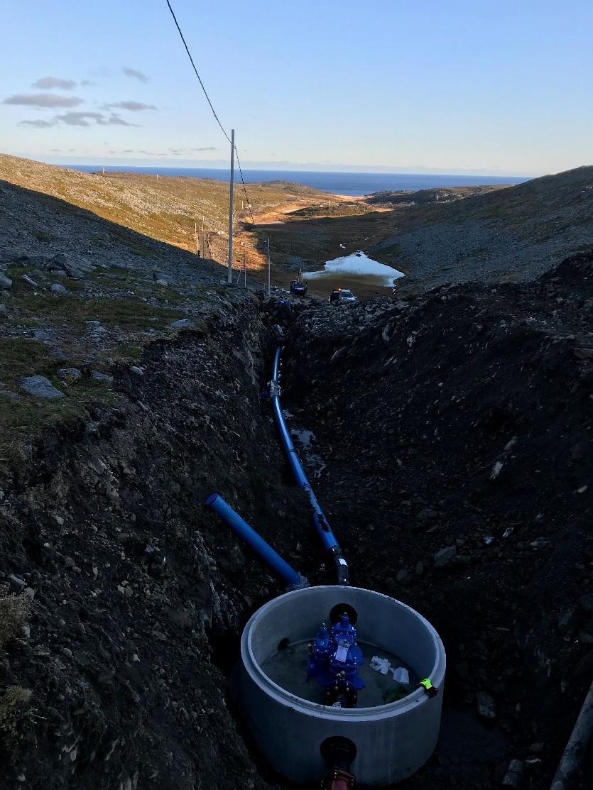 God utsikt fra Grytvannet ned mot Gamvik