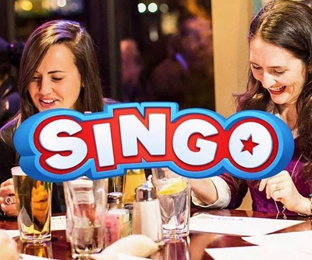 Don't miss Wednesday Night SINGO! 🔴 FREE & FUN EVENT 🔵 MUSIC & GAMES 🔴 GREAT PRIZES 🔵 BEST BAR FOOD & BEER 🔴 LATE NIGHT HAPPY HOUR  ALL STARTING AT 7 PM!!