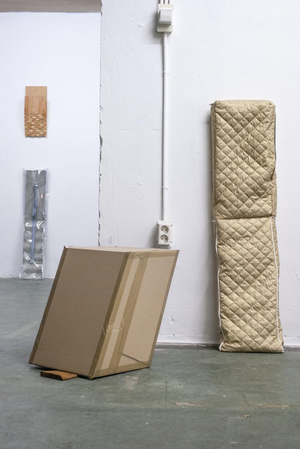Wooden pieces by Olga Micińska.