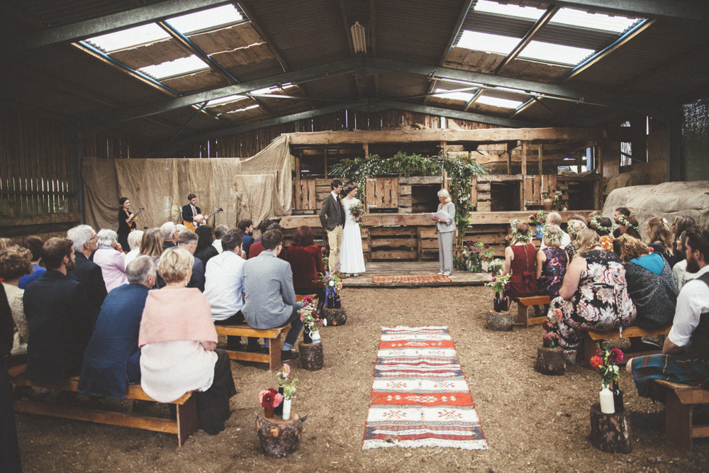 A Ceremony in the shearing shed