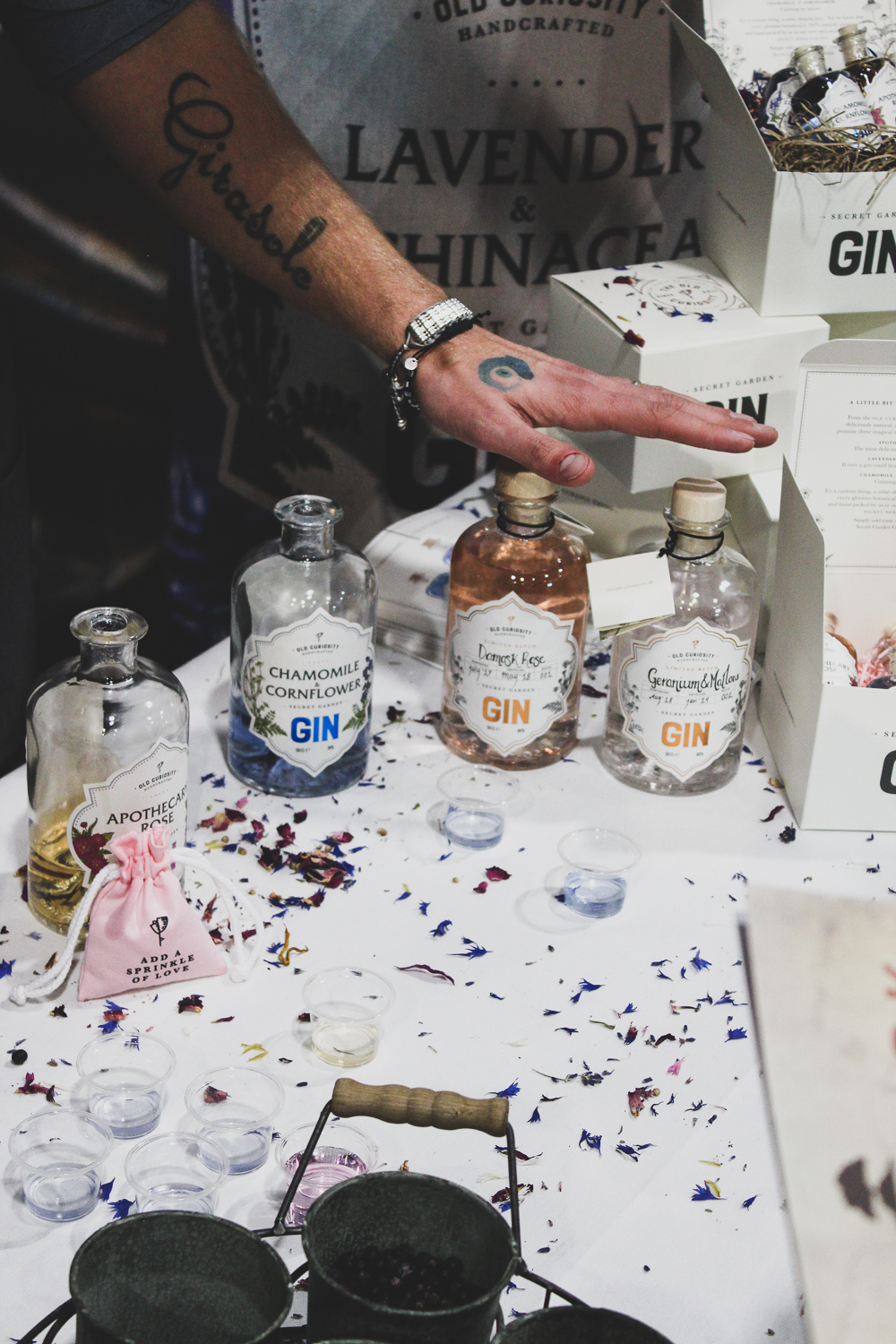 The Old Curiosity Distillery . Hand-grown; picked and infused botanicals turned into amazing gins.