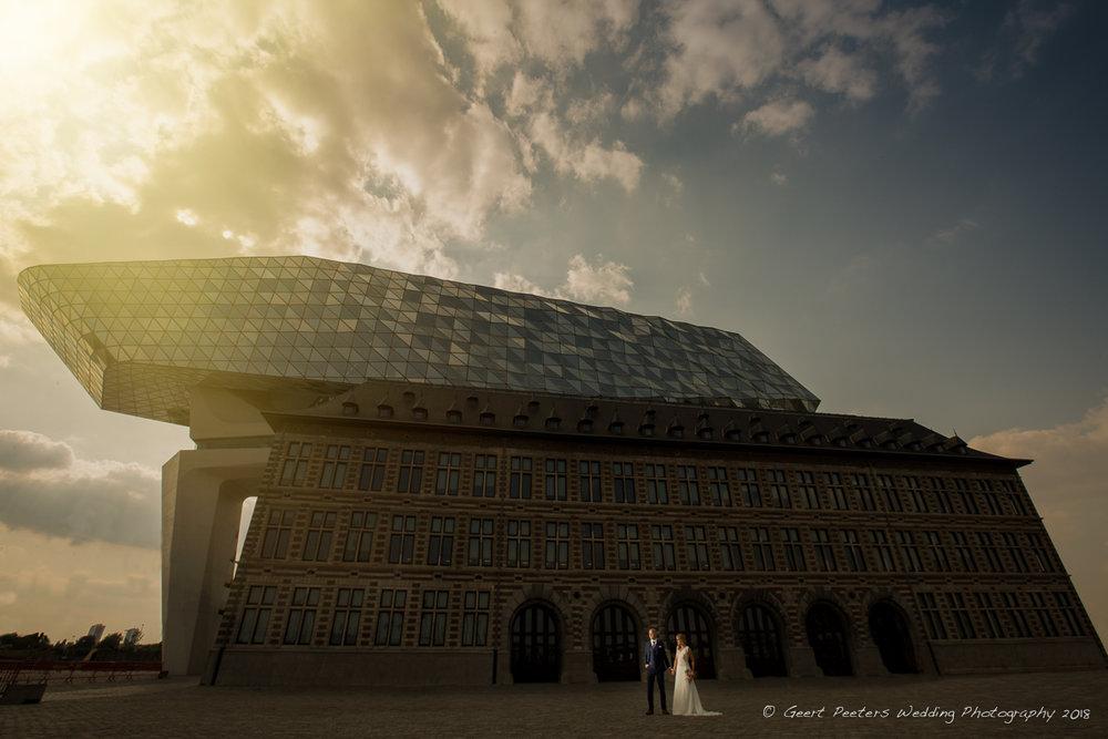 Havenhuis Antwerpen trouw shoot foto