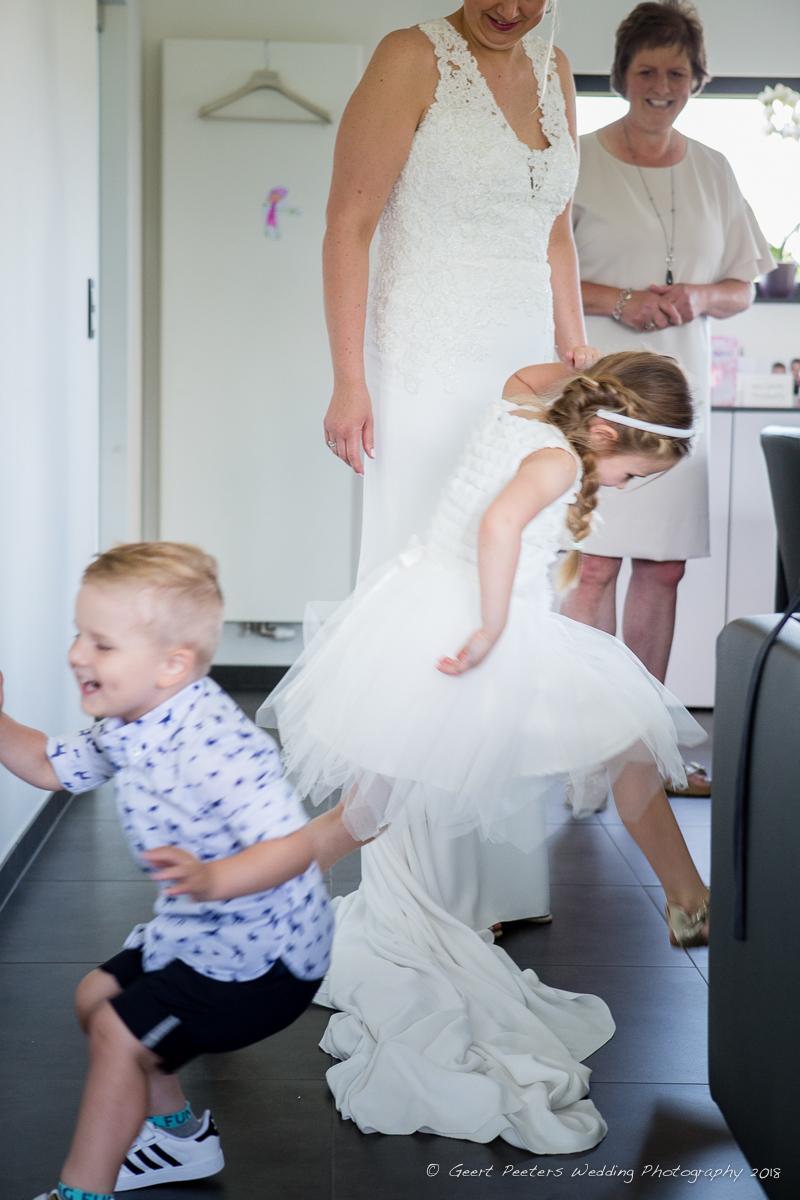 Hof Van Beatrijs Lier trouw klaarmaken bruid foto