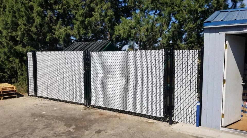 Eagle Fence Store NCW Black Chain Link 9 with Grey Slats.jpg