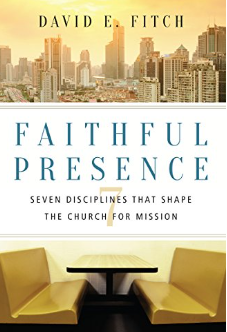 "FAITHFUL PRESENCE    This book helps explain the model of our ministry at Table. We know that God wants to be with us and we know that God wants to be with other people who haven't found their way to him in awhile - or ever. At Table, we desire to seek out friends and neighbors who want to have the freedom to ""sniff out"" who this Jesus is. Our Tables are hopefully full of the aroma of Jesus, as well as delicious food and beverages.  We also use the images for three spaces discussed in this book for our three types of tables on this website and in our literature."