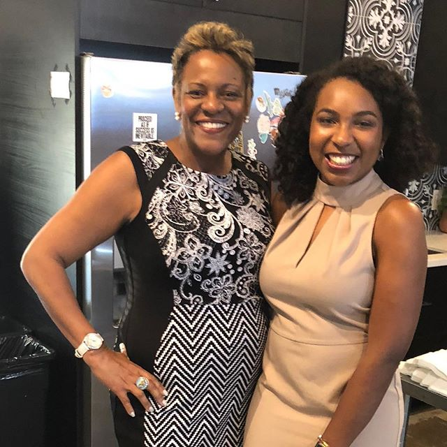 "Pic with Christa Clark, founder of ""Freeing She"", taking women of color to higher heights in their career and entrepreneurial pursuits."
