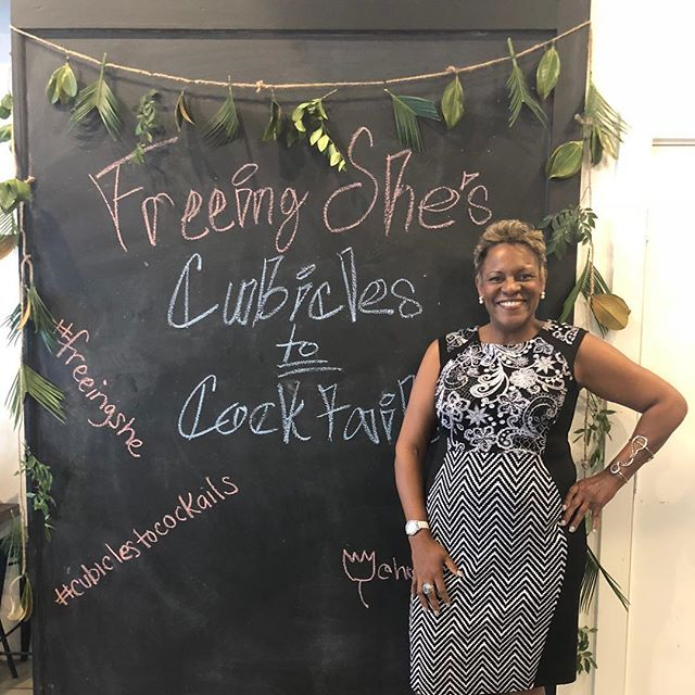 I was jazzed to speak to women of color at the May Freeing She event for Cubicles to Cocktails about bringing your authentic self to work. It was boss hog awesome!