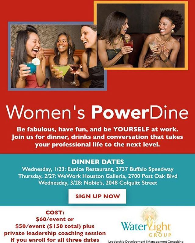 Join Tracy Carmen-Jones, Leadership Coach, and start your 2019 focus on You, Power and Taking Your Work Life Higher 🙌🏻 Link to our Women's PowerDine dinner series sign up in profile and here: https://www.eventbrite.com/e/womens-powerdine-tickets-54536190213