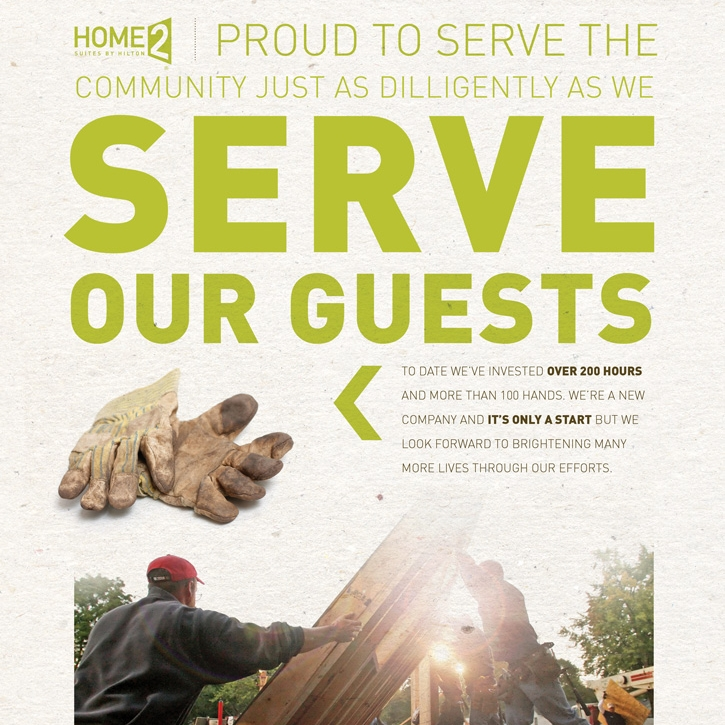 HOSPITALITY - We love working on hospitality brands. There is just something about the people that work in this industry of service that rubs off on you in a positive way. Check out our work for Hilton brands, Homewood Suites and Home 2 Suites below and learn more about how we were able to help them grow brand equity and market share in the extended stay hotel category.