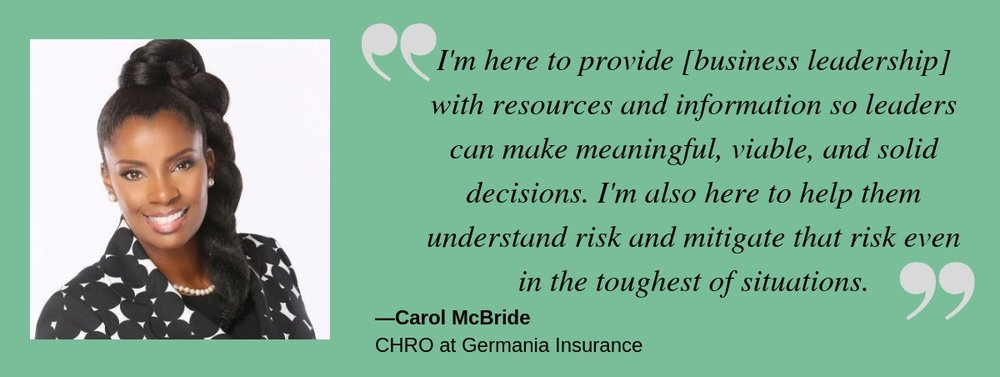 Talent Champions the desk of the CHRO with Carol McBride