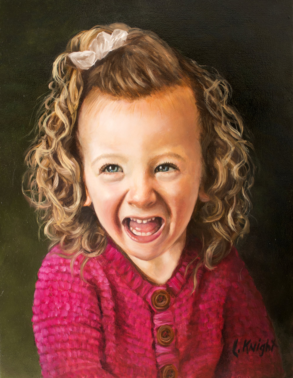 Laurel Knight, one of Portrait Connection's first portrait artists, has created several beautiful pieces to help bring comfort and light to families across the nation.