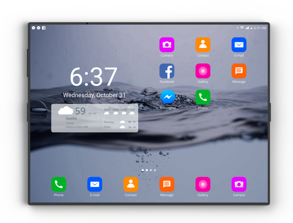 Home screen (Tablet Mode)