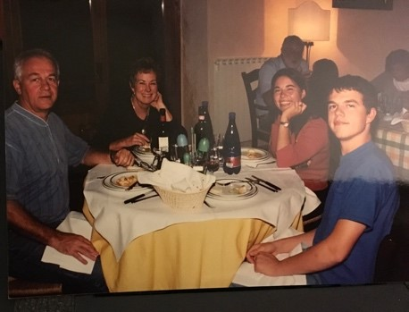 This photo shows Franco with our family members at Fattoria Lavacchio when he was about 17 years old. We had already been visiting the vineyard for several years.