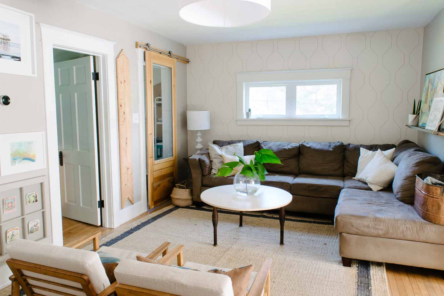 Small Space Living Room Reveal In A Eclectic Bungalow This Giant Life