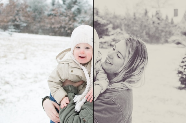 before & after of black and white preset
