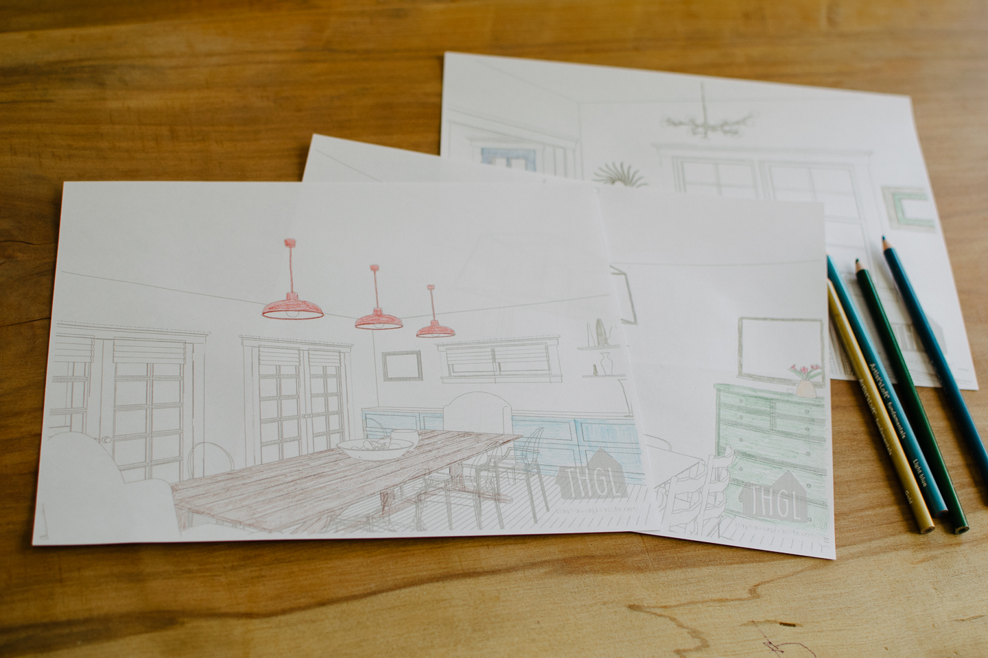 free printable dining room coloring pages