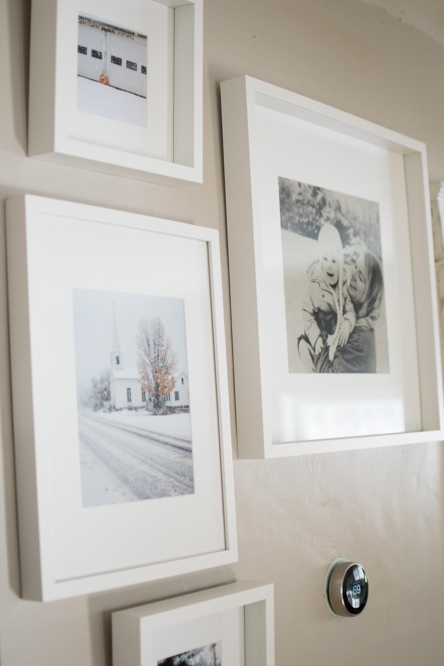 winter gallery wall