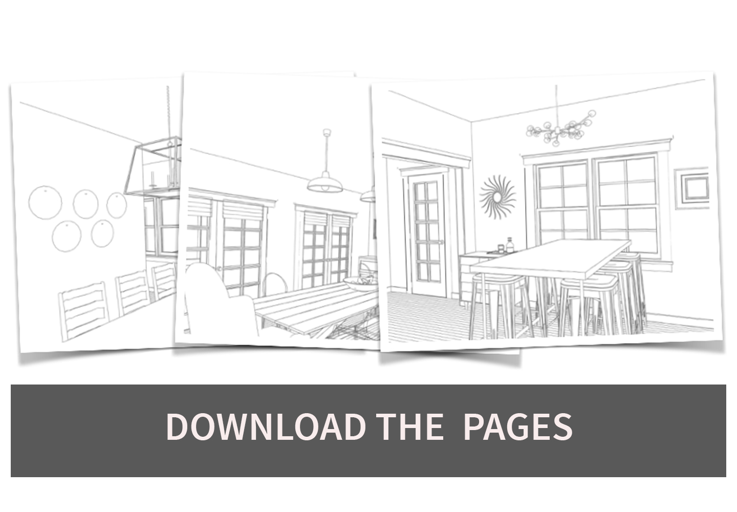 dining room coloring pages download