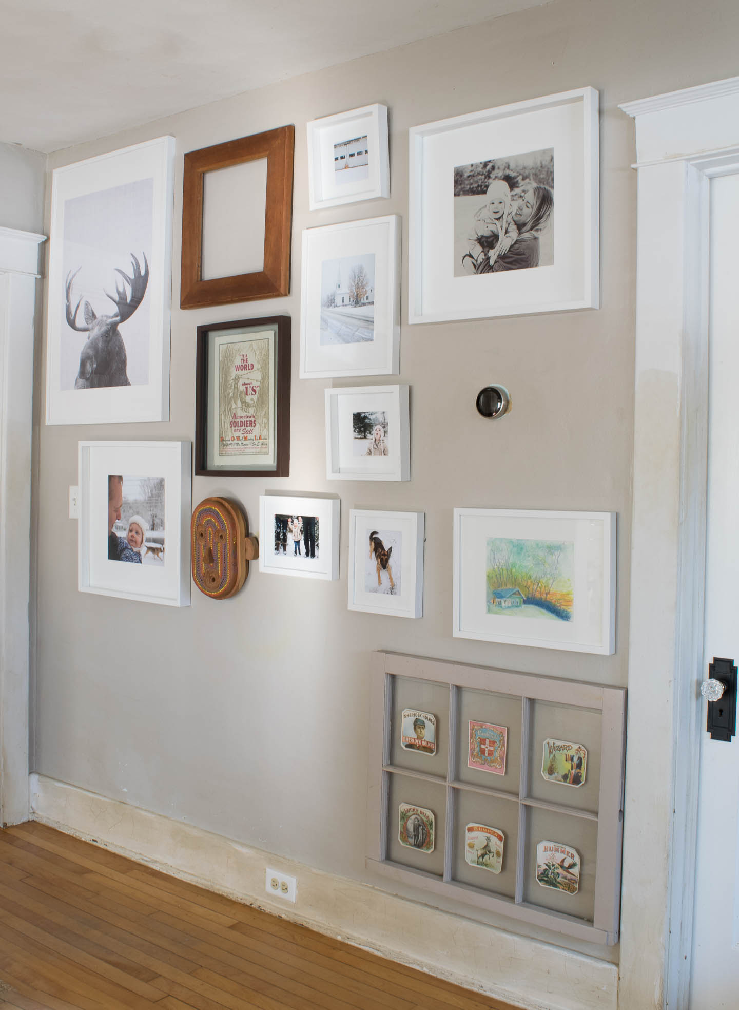 current gallery wall