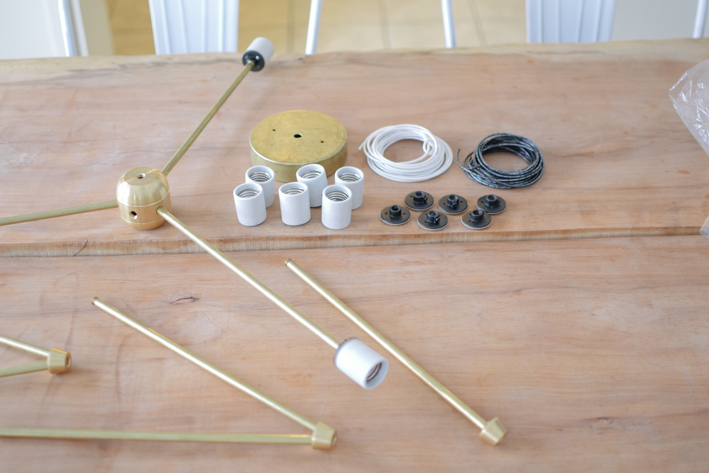unassembled sputnik light parts
