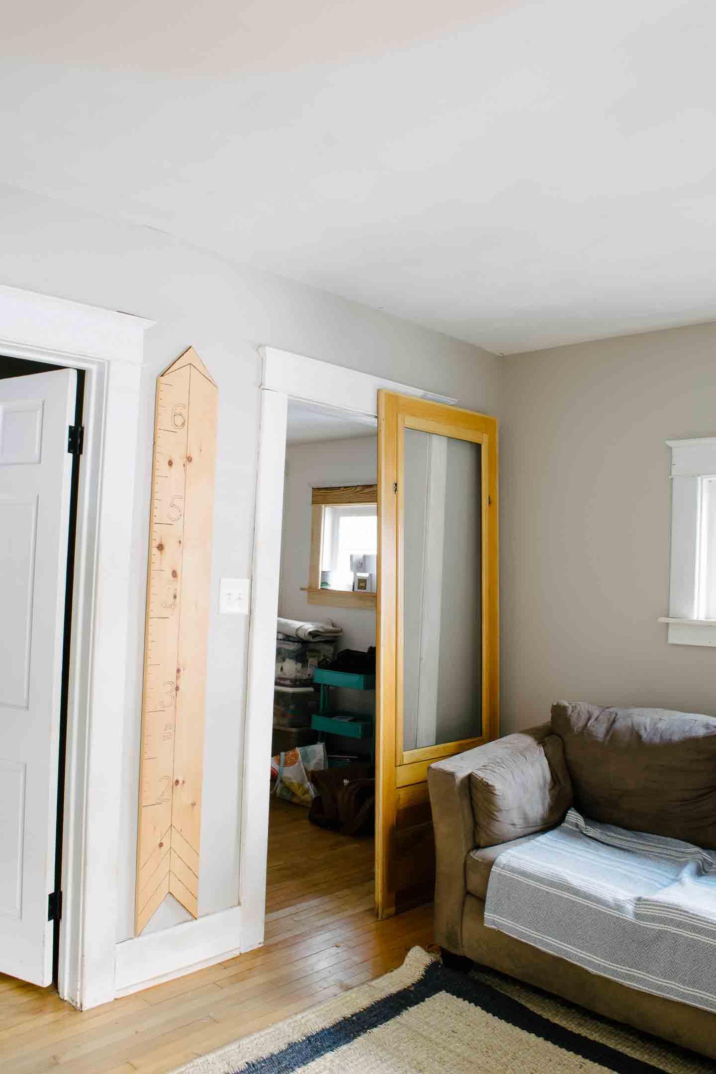 sliding door before mounting