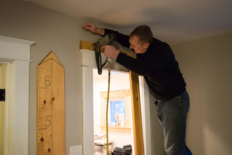Installing sliding door hardware