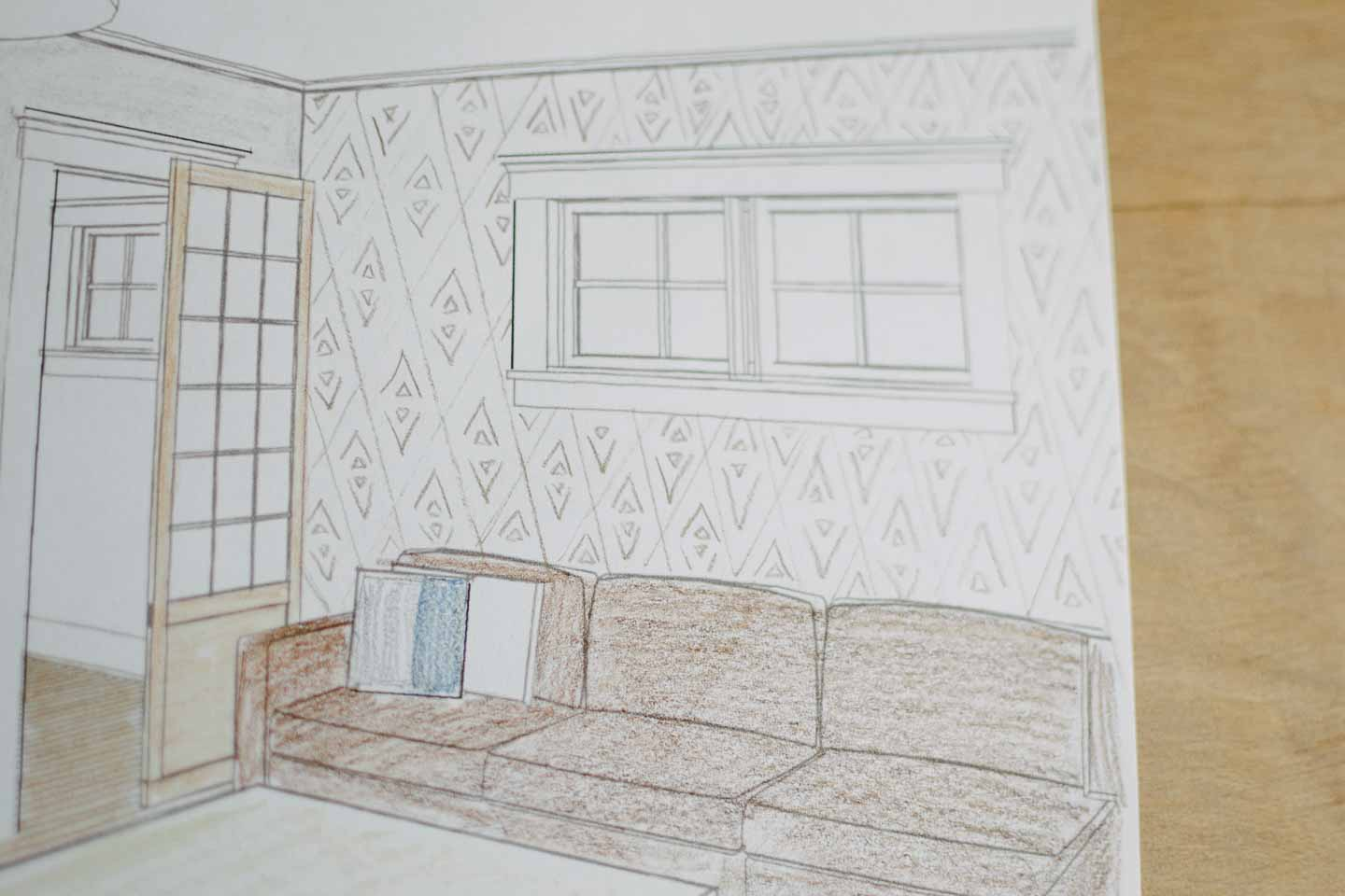 coloring page fixes wall design dilemma