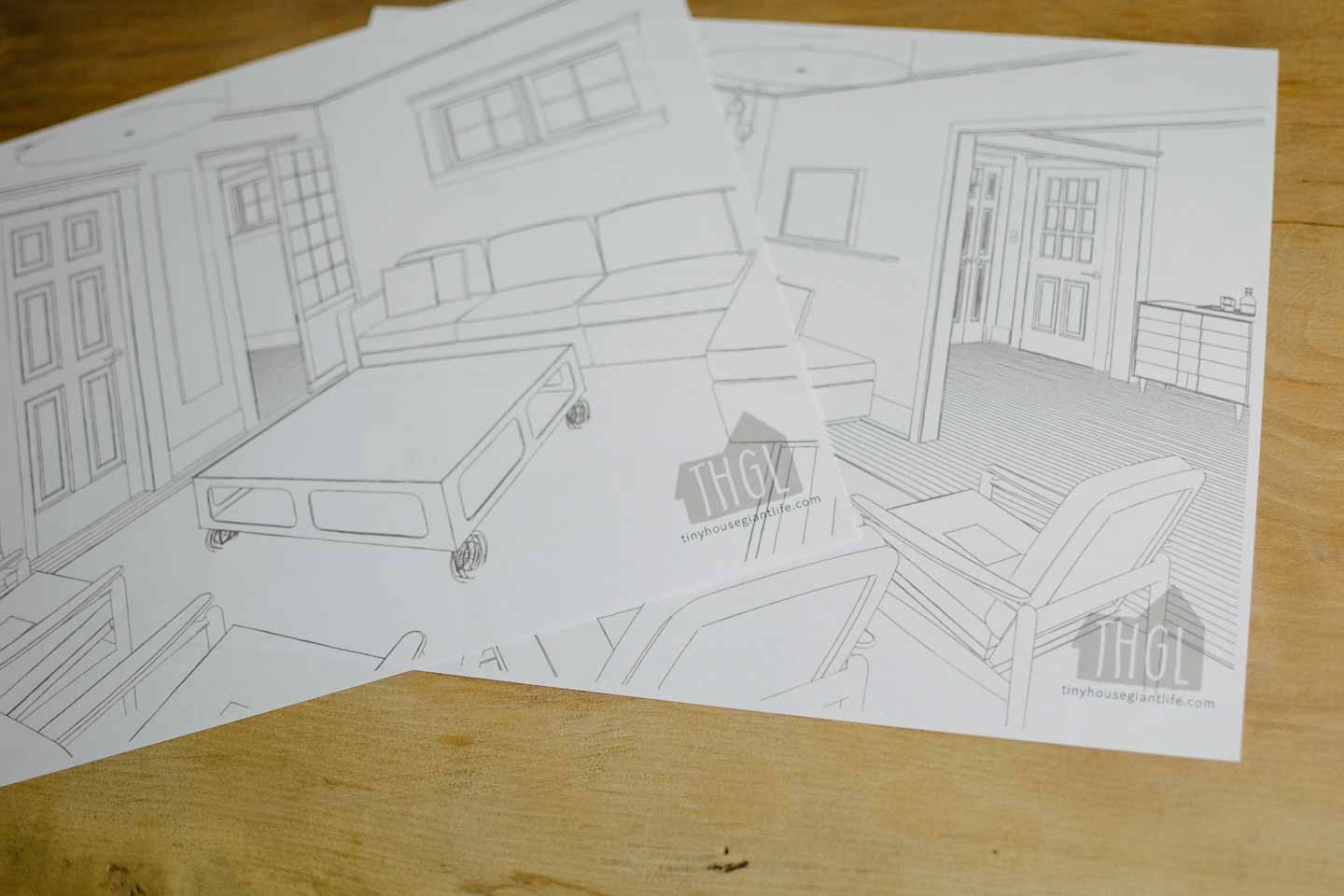 blank living room coloring pages