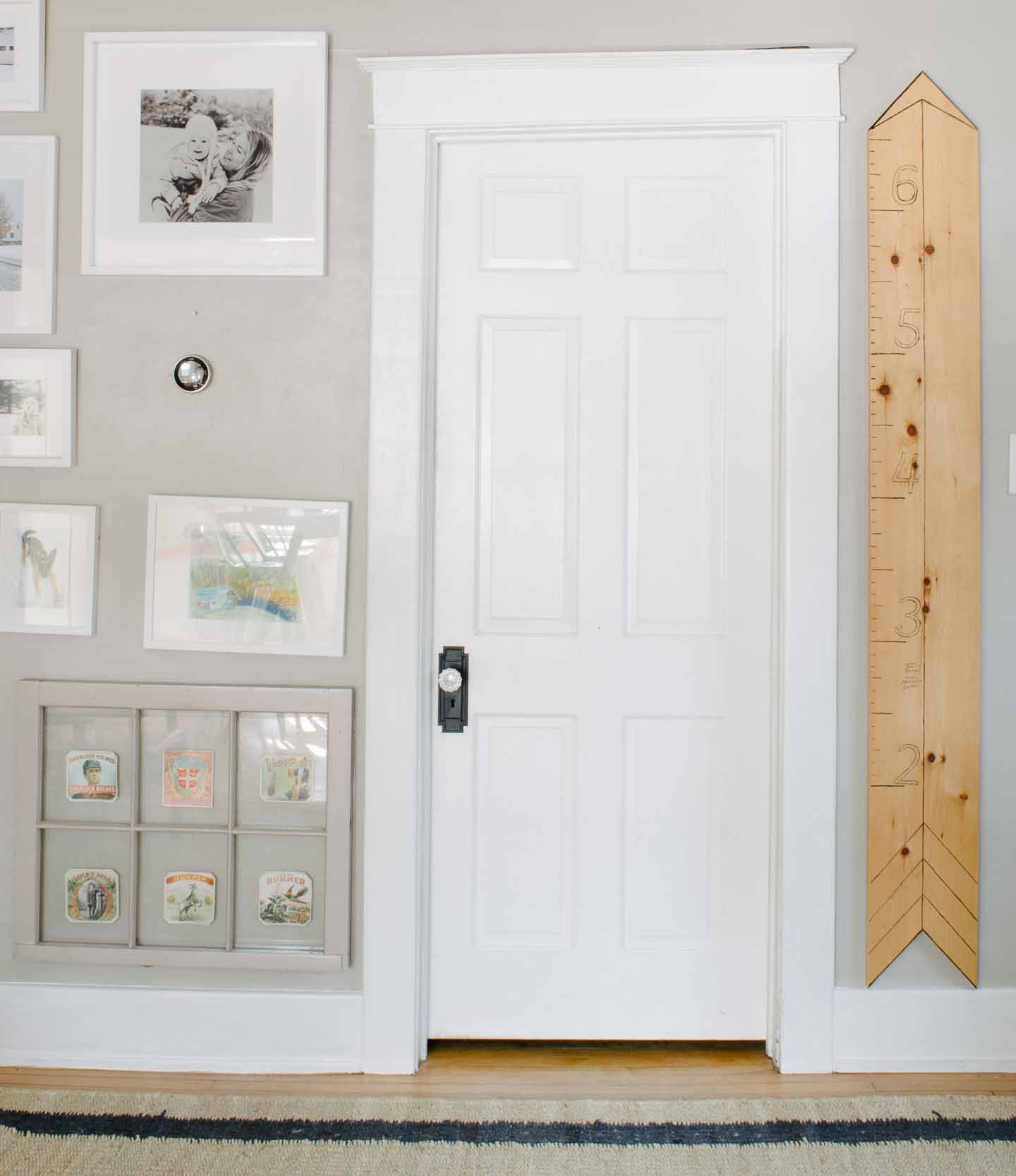 Crooked framed bedroom door