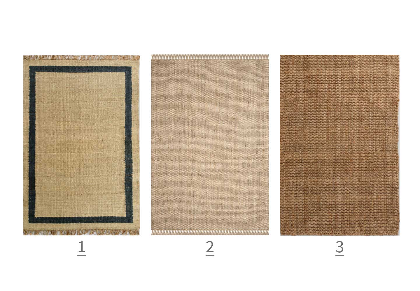 Jute rugs with dogs