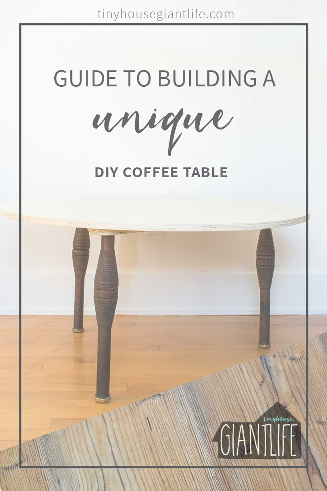 A Guide To Building A Unique DIY Coffee Table (Using IVinatge Industrial Spool's & A Plywood Top)