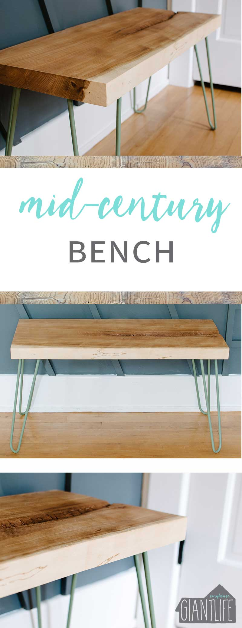 When The Design Plan Takes A Detour | Mid-Century Bench | One Room Challenge Week 4