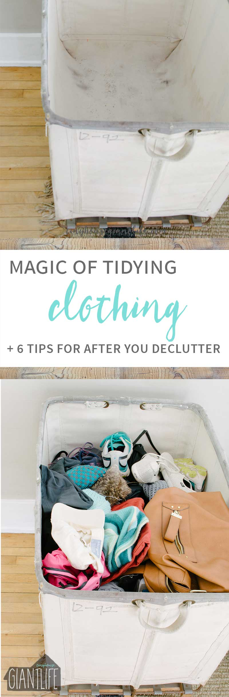 How to declutter clothing using the magic of tidying process |Organization | Clothing Organization