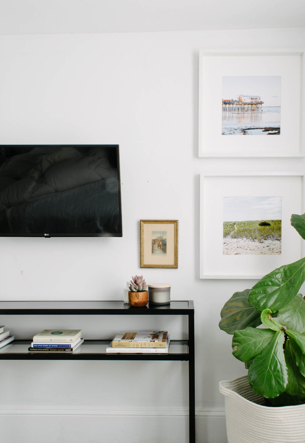 A Space Saving TV Stand In The Guest Room