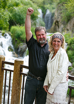 Tying the knot at Roughlock Falls