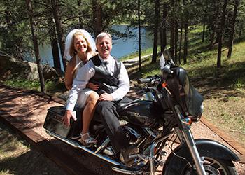 Rally wedding at Bismarck Lake