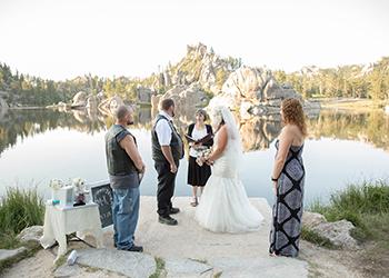 Rally wedding at Sylvan Lake