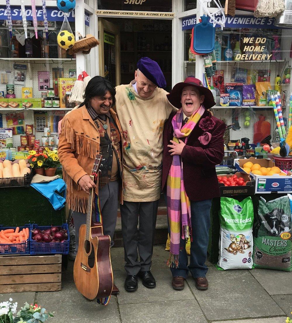 Cyril (musician), Mr Newbold (artist) and Eric (poet)   Actors : Kulvinder Ghir, Geoffrey Whitehead & Johnny Vegas