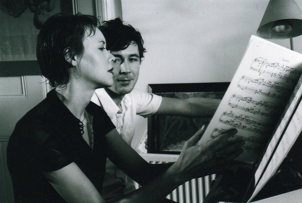 Photo Finish - Elen & Joe at the piano black and white Photo no 2.jpg